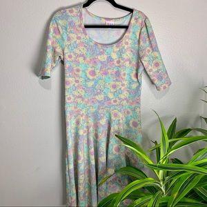 LuLaRoe Pastel Floral Midi Dress